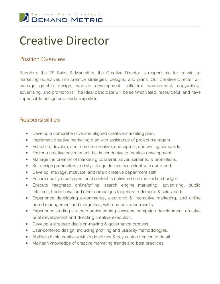 Creative Director Job Description