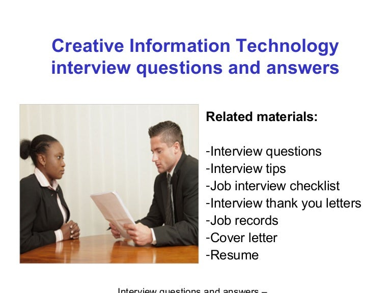 interview questions and answers for information technology