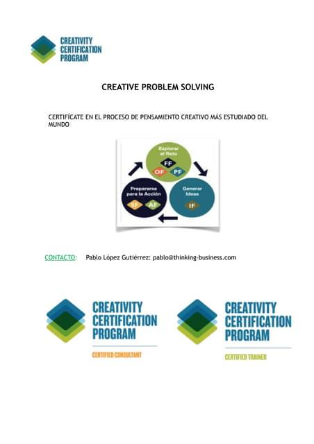 Creative problem solving presentación comercial