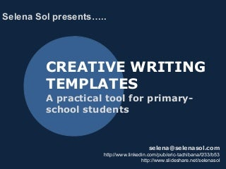 Creative writing structure