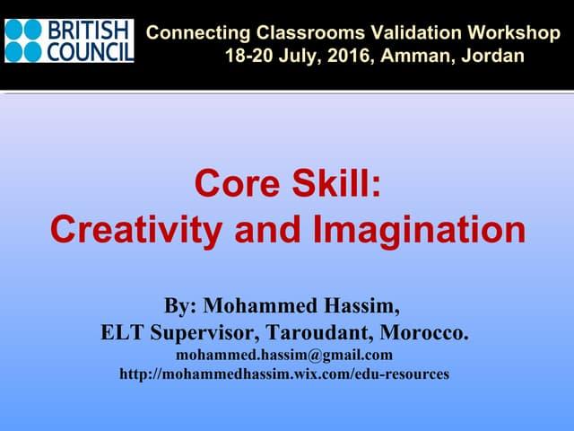 Creativity and imagination cc 20july2016 hassim