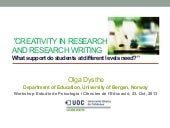 Creativity in research_academic_writing_by_olga_dysthe