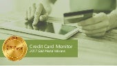 2017 Monitor Awards Gold Winners: Credit Cards