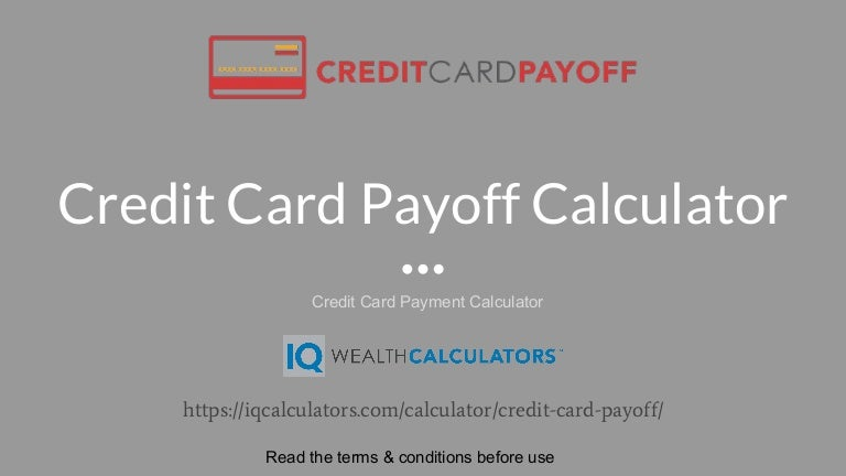 calculator for credit card payments