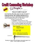 Credit Counseling Workshop - NO COST - July 26, 2012 10am - Noon