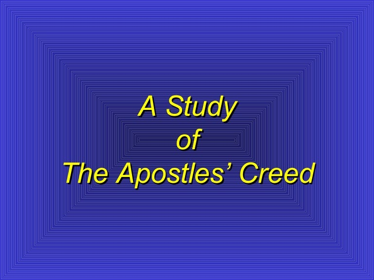 Is important why creed the apostles The history