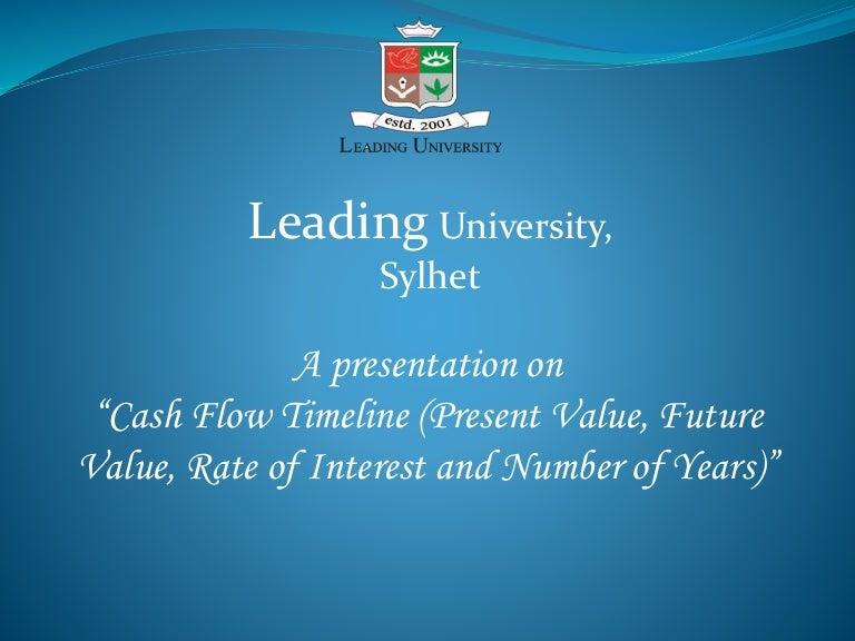 cash flow timeline