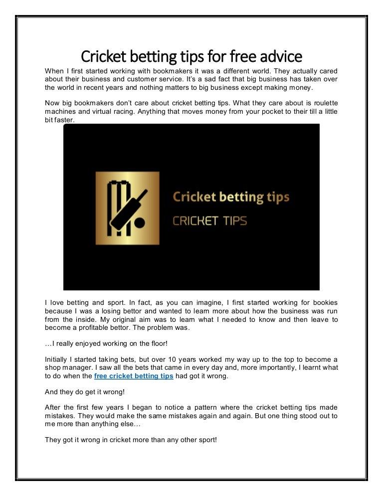Free cricket tips betting bitcoinshop