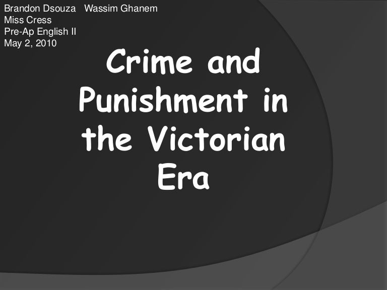 crime and punishment victorian era