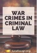 Criminal Law Essay | Bartleby