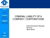 Criminal liability of company