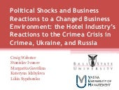 Political Shocks and Business Reactions to a Changed Business Environment: the Hotel Industry's Reactions to the Crimea Crisis in Crimea, Ukraine, and Russia