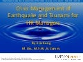 Crisis Management of Earthquakes & Tsunamis for HR Professionals