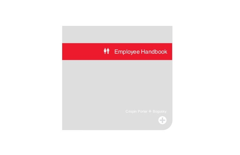 Crispin Porter Bogusky Employee Handbook - Best employee handbook template