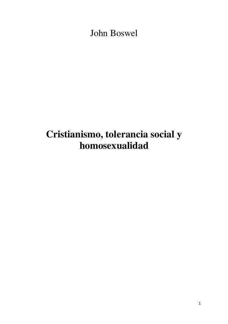 Cristianismo, tolerancia y homosexualidad