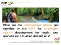 Criteria for Sustainable Tourism by GSTC and Hopineo