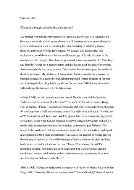 criterion essay