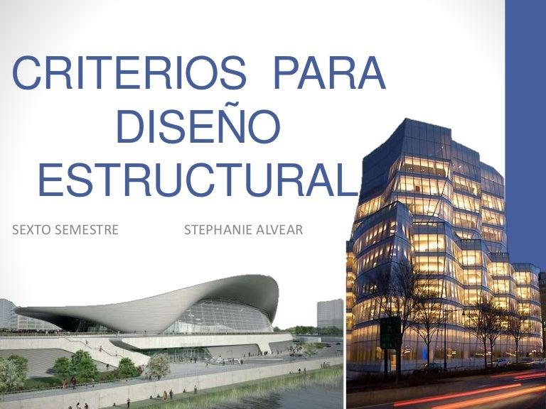 Criterios para dise o estructural for Diseno estructural de casa habitacion