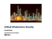 Critical Infrastructure Security by Subodh Belgi