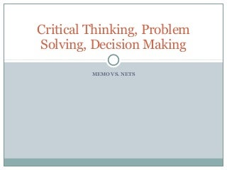 Critical Thinking  Problem Solving   LinkedIn Critical Thinking