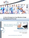 Critical elements of an effective claim management process