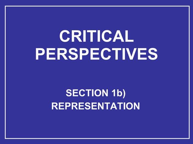 SECTION A representation