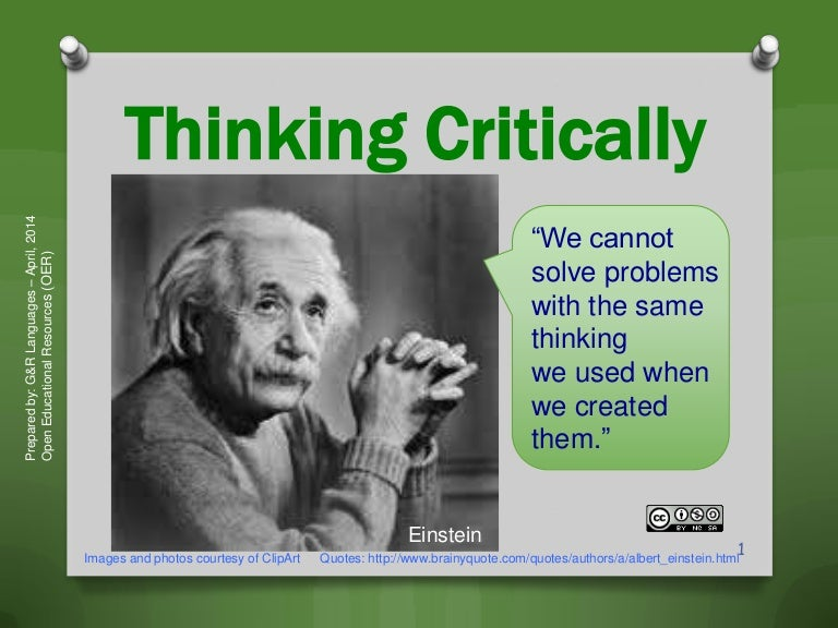 Quotes About Critical Thinking Mesmerizing Critical Thinking  Employment Skills And Strategies