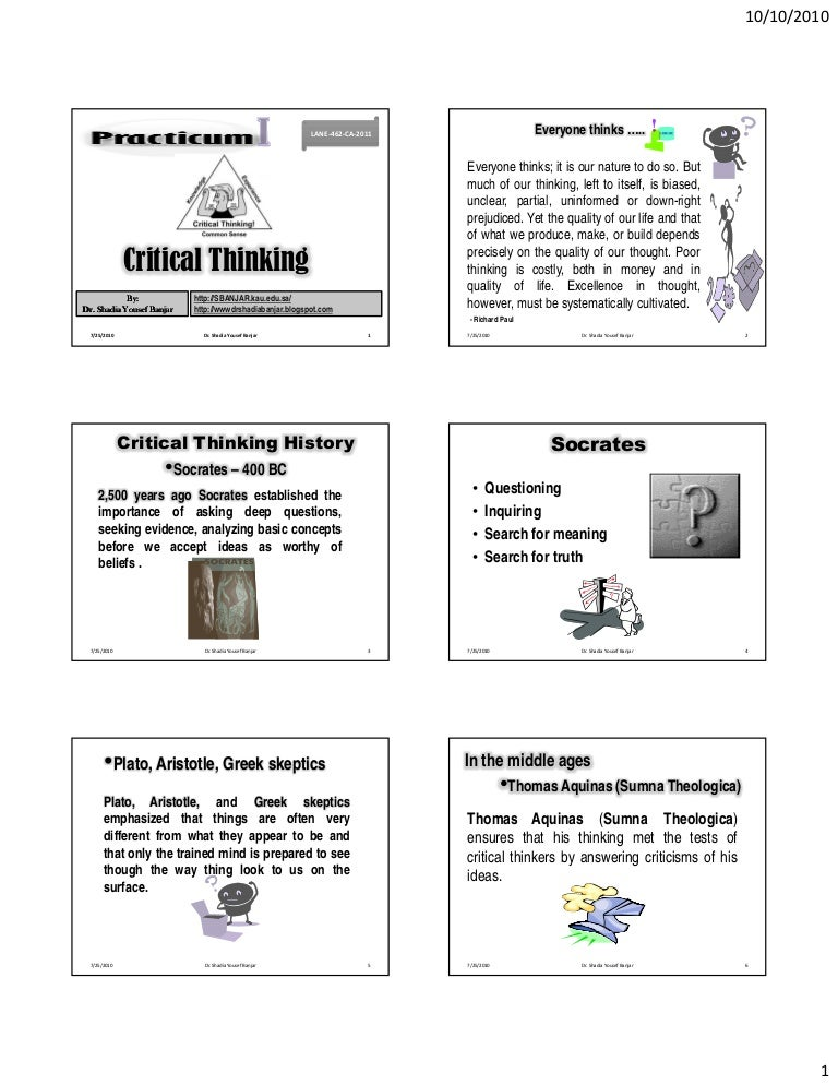 Reasoning Skills Healio The Promotion of Critical Thinking Skills through Argument Mapping