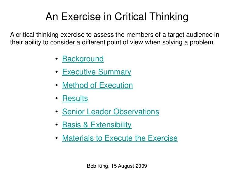 CRITICAL THINKING     SlideModel com