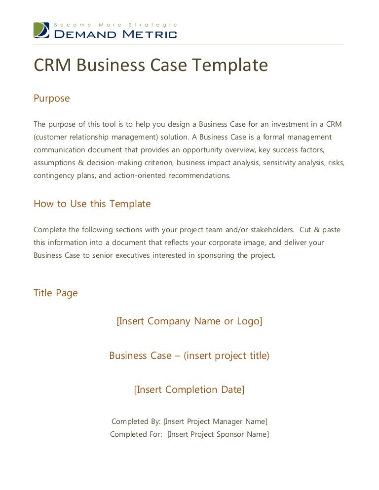 Crm business case template crmbusinesscasetemplate2 120413105608 phpapp01 thumbnail 4gcb1354715719 fbccfo Gallery