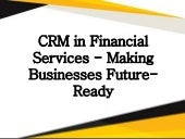 CRM in Financial Services- Damco Solutions