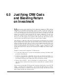 Crm justifying crm costs & boosting roi
