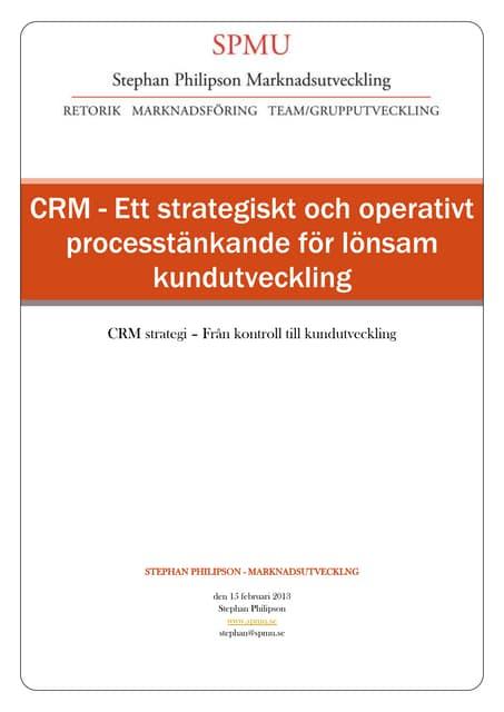 CRM - Kundrelationsutveckling