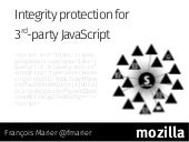 Integrity protection for third-party JavaScript