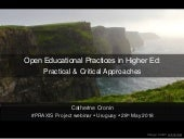 Open educational practices (OEP) in higher education: Practical and critical approaches