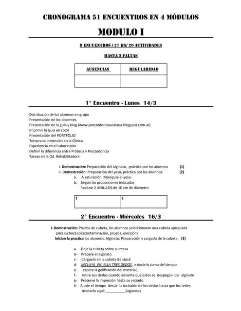 Cronograma 2016 prostodoncia pdf