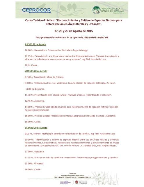 Cronograma 7º taller nativo agosto 15