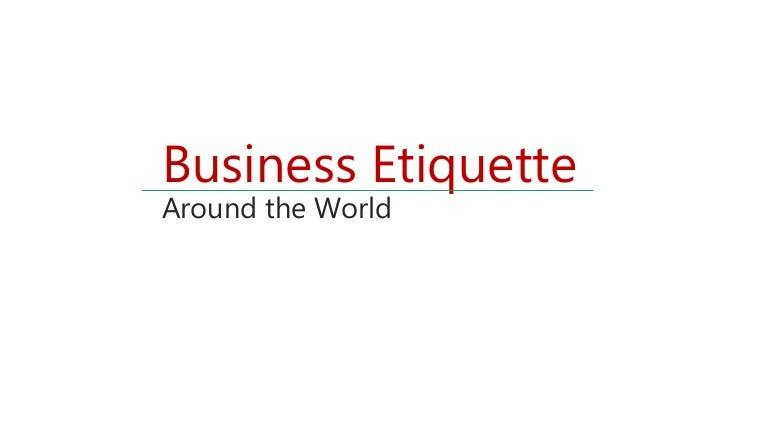 Cross cultural business etiquette reheart Gallery