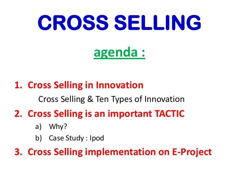 cross selling presentation by sophie