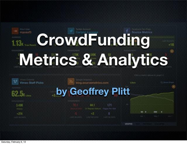 Crowd fundingmetrics