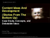 Content Ideas And Development (Stories From The Bottom Up)