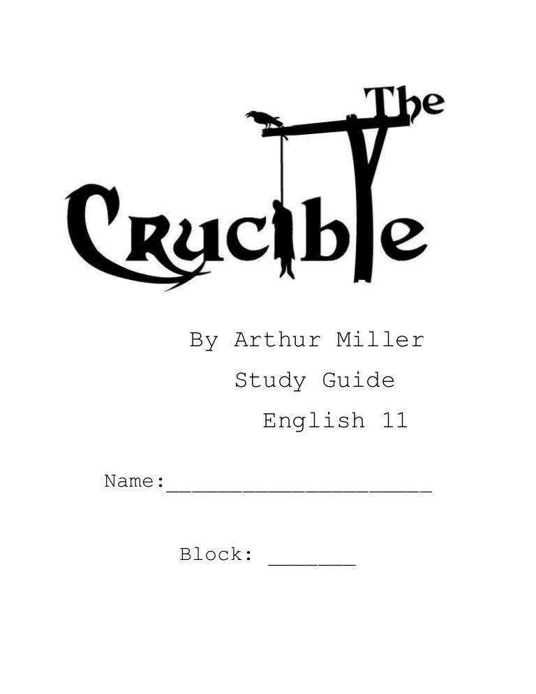 Crucible study guide