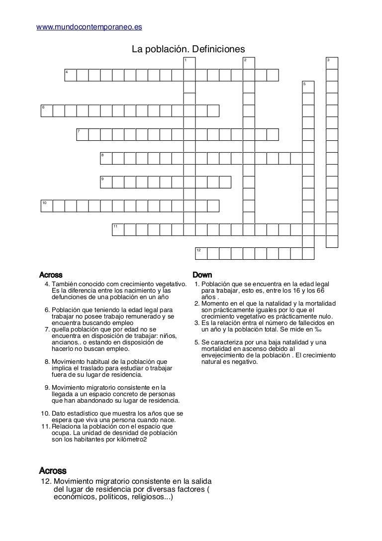 Crucigramas definiciones la_poblacion