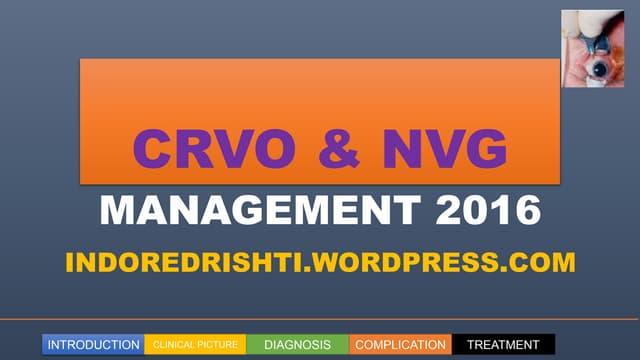 CRVO AND NVG MANAGEMENT  2016