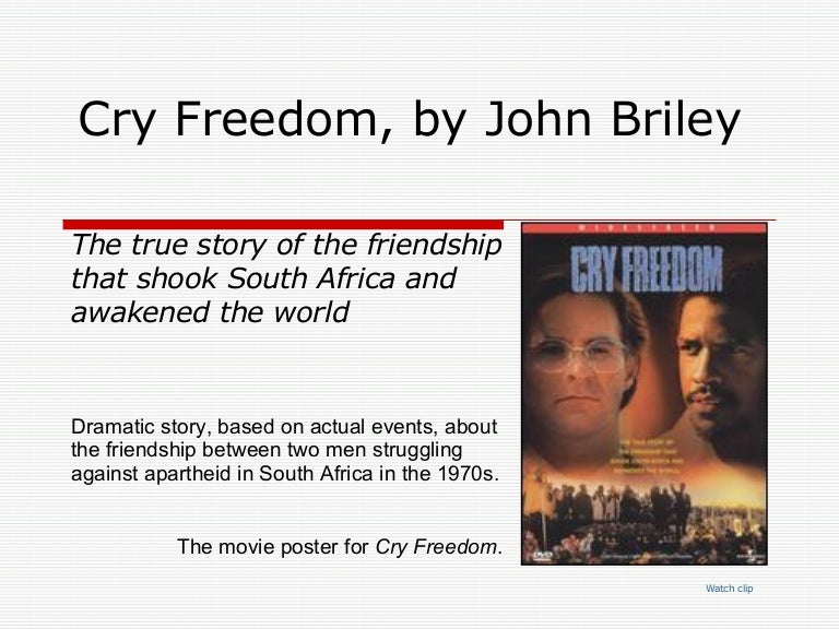 cry freedom character analysis