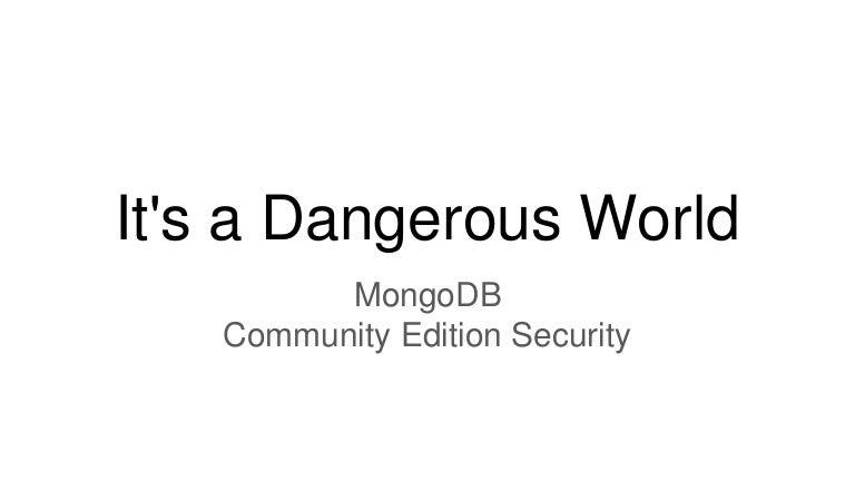 mongodb community edition