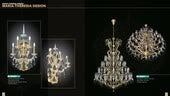 Crystal chandeliers maria theresia design with swarovski crystals www.kny-design.com