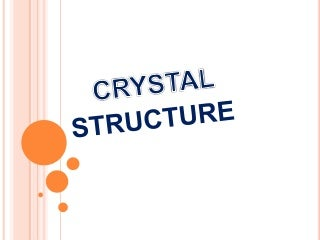 Engineering Physics - Crystal structure - Dr. Victor Vedanayakam.S