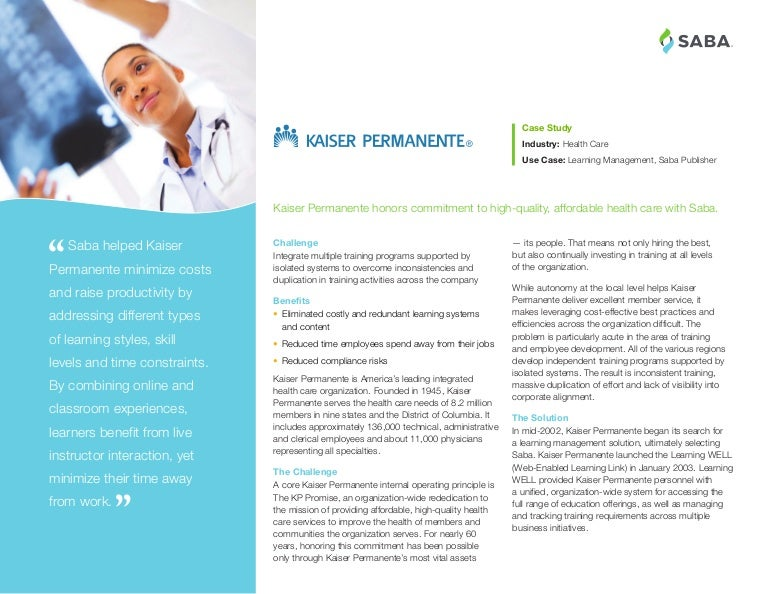 How Kaiser Permanente Delivers High-Quality Training