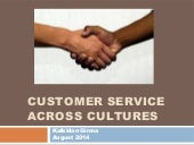 CUSTOMER SERVICE ACROSS CULTURES - WORKING IN ETHIOPIA